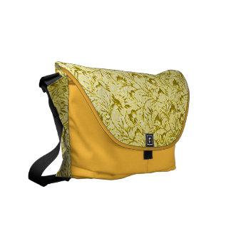 Vintage Floral Lemon Yellow Messenger Bag