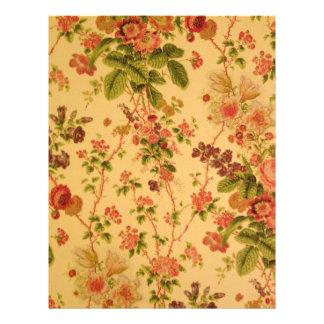 Vintage Floral Letterhead