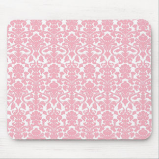 Vintage Floral Light Pink Damask Mousepad