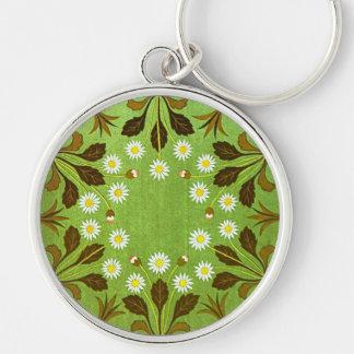 Vintage floral llavero