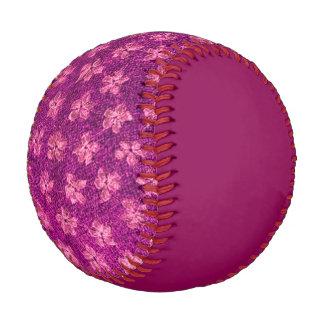 Vintage Floral Magenta Baseball