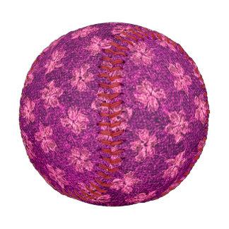 Vintage Floral Magenta Pink Violets Flowers Baseball