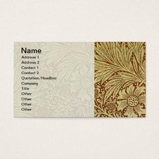 Vintage Floral Marigold Wallpaper Pattern Business Card