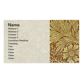 Vintage Floral Marigold Wallpaper Pattern Double-Sided Standard Business Cards (Pack Of 100)