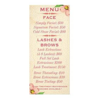 Vintage Floral Menu Cards