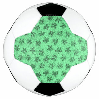 Vintage Floral Mint Green Soccer Ball
