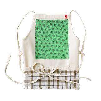 Vintage Floral Mint Green Zazzle HEART Apron