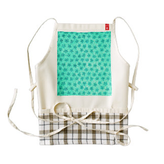 Vintage Floral Mint Green Zazzle HEART Apron