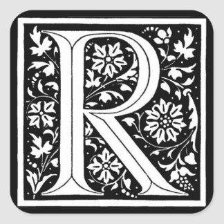 Vintage Floral Monogram 'R' – Sticker