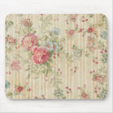 Vintage Floral Mouse Pad
