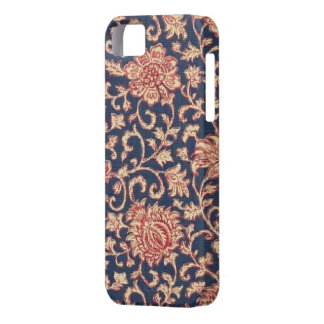 Vintage Floral Navy Red Case-Mate iPhone 5 Cover