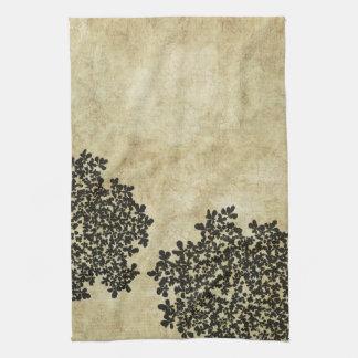 Vintage floral negro toallas