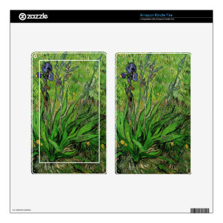 Vintage floral oil painting, Van Gogh Iris Decals For Kindle Fire