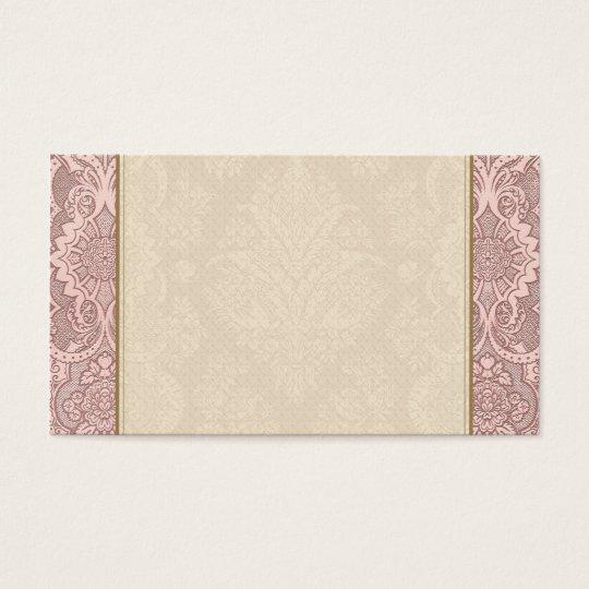 Vintage Floral on Rosy Beige Business Card