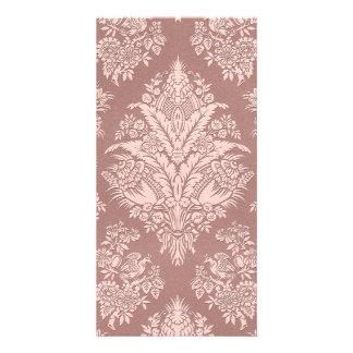 Vintage Floral on Rosy Beige Card