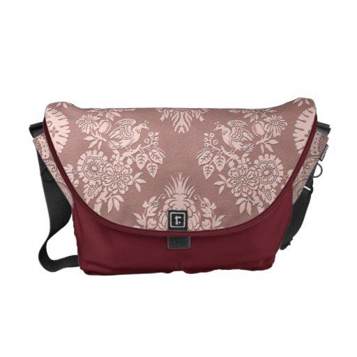 Vintage Floral on Rosy Beige Commuter Bags