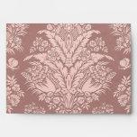 Vintage Floral on Rosy Beige Envelope