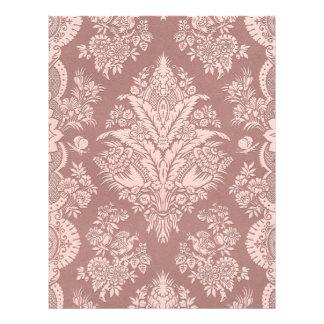 Vintage Floral on Rosy Beige Letterhead