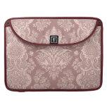 Vintage Floral on Rosy Beige Sleeve For MacBooks