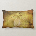 Vintage Floral Orchid Wildflower Lumbar Pillow