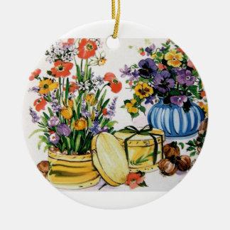 vintage floral ornamento de navidad