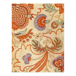 Vintage floral paisley chic damask pattern post cards