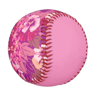 Vintage Floral Pansy Pink Baseball