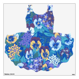 Vintage Floral Pansy Wall Decal