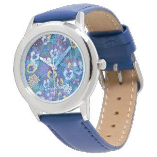 Vintage Floral Pansy Wrist Watch
