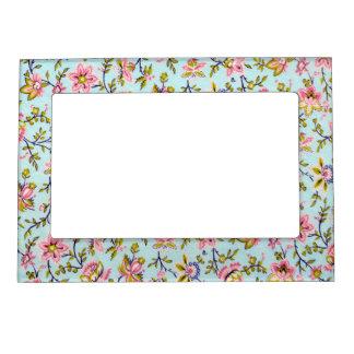 Vintage Floral Paper Magnetic Picture Frame