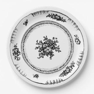 Vintage Floral Paper Plates