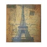 vintage floral París de la torre Eiffel de la moda Bloc De Papel