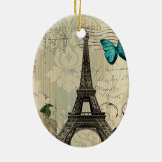 vintage floral París de la torre Eiffel de la moda Ornato