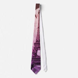 vintage floral París de la torre Eiffel elegante Corbata