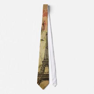 vintage floral París de la torre Eiffel elegante Corbata Personalizada