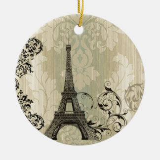 vintage floral París de la torre Eiffel elegante Ornato