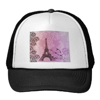 vintage floral París de la torre Eiffel elegante Gorro