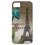 Vintage floral París del arte botánico elegante iPhone 5 Fundas