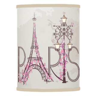 Vintage Floral Paris Eiffel Tower Lamp Shade