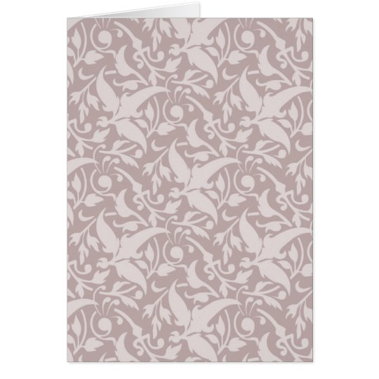 Vintage Floral Pattern 1 - Faded Red Card