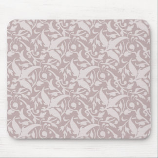 Vintage Floral Pattern 1 - Faded Red Mouse Pad