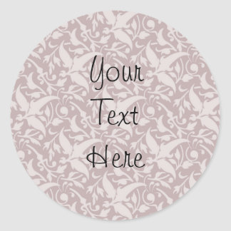 Vintage Floral Pattern 1 - Faded Red Round Sticker