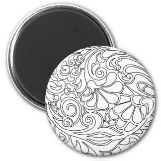 vintage floral pattern 2 inch round magnet