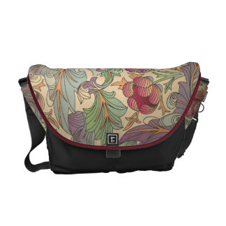 Vintage Floral Pattern - 2 Messenger Bag