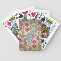 Vintage Floral Pattern - 3 Bicycle Playing Cards