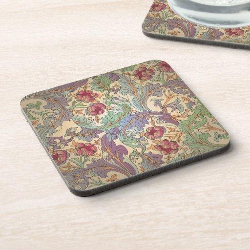 Vintage Floral Pattern - 6 Coaster