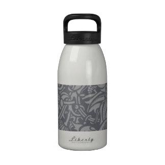 Vintage Floral Pattern Art Nouveau Thistle Design Drinking Bottles