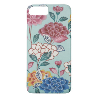 Vintage Floral Pattern Asian Art Blue iPhone Case