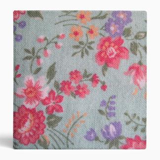 Vintage Floral Pattern Binder