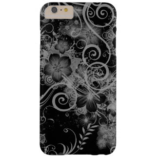 Vintage Floral Pattern Black and White Barely There iPhone 6 Plus Case